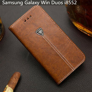 For Samsung Galaxy E5 2015 E500 Slot Wallet Cover 5.0'' Pu Leather Phone Case