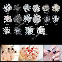 500pcs False Nail Tips Lots Shape Acrylic UV Gel Half /Full Finger Nail Art Tips