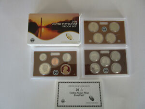 2013 United States Mint Proof Set (14 Coins) with Box & C.O.A. No Reserve!!!