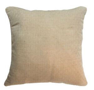nk36a Thick Pure Linen Checker Sand Khaki Cushion Cover/Pillow Case*Custom Size