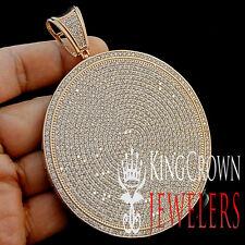 MEN 14K ROSE GOLD FINISH BLING KING MEDALLION STYLE CUSTOM JUMBO CHARM PENDANT