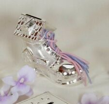 SILVER PLATED SHOE HOUSE MONEY BOX (370)