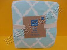 Pottery Barn Teen Clover Drapes Panels Curtains 52x84 Light Blue Cotton Velvet