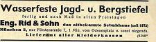 Eng. Rid & Sohn München JAGD-UND BERGSTIEFEL Historische Reklame von 1937