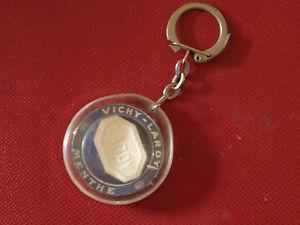 Porte-clés Key Ring - Vichy Lardy - véritable pastille VICHY -