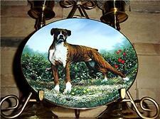 Standing Proud Cherished Boxers Puppy Dog Danbury Plate