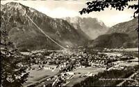 Bad Reichenhall Bayern Postkarte 1957 gelaufen Blick auf die Stadt Gebirge Total