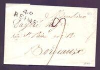 Vorphilabrief Frankreich 1813 mit Stempel 49 Reims n. Bordeaux mit Inhalt (204)