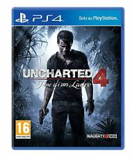 GIOCO PS4 PLAYSTATION 4 UNCHARTED 4 FINE DI UN LADRO ORIGINALE ITA SIGILLATO