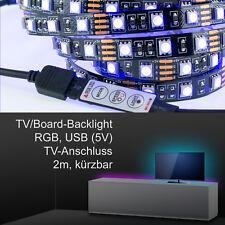TV/Board Ambience Backlight, LED-Strip inkl. Controller, 2m, RGB, USB 5V, für...