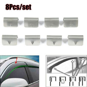 8Pcs Channel Rain Wind Deflector CLIPS Fit For HEKO SNED G3 Climair iSpeed ​​Met