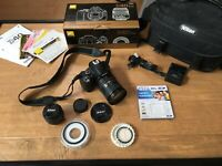Nikon D40 With Carry Bag, 50 mm Prime And 18-200 mm Lens PACKAGE +++