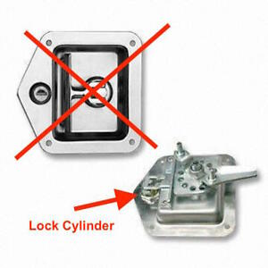 Replacement Lock Cylinder For Flush Lockable Folding T Handle-Toolbox, Ute, Box