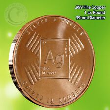 """Silver & Shells"" 1 oz .999 Copper Round Part of the Safety In Numbers Series"