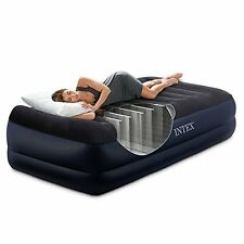 """Intex Airbed Twin Size Height 16.5"""" Mattress Raised With Built In Pump Sleeper"""