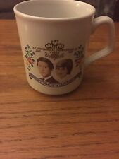 Vintage Royal Wedding Commemorative Mug, Lady Diana Spencer, HRH Prince Charles