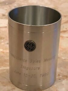 """Far East Middle East 1980 GE Iron Pewter Pen Pencil Holder Table Desk 3"""""""