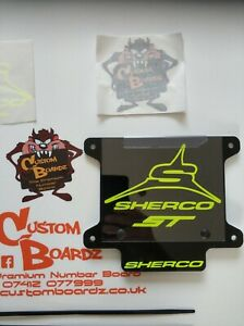Trials front Number Board SHERCO