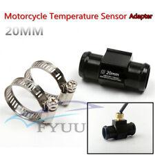 20mm CNC Aluminum Alloy Racing Motorcycle Water Temperature Sensor Adapter Black