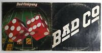 """Bad Company 2 Vinyl LP Lot """"Straight Shooter & Self Titled"""" Tested"""