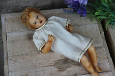 Rare realistic Antique Rare Baby christ  wax nativity christmas Doll religious