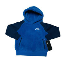 Nike Winterized Hoodie (Toddler Size 2T) Pullover Sherpa Fleece Hoodie Blue