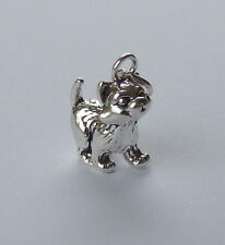 Carini Gattino Kitty Cat 3D Charm 925 Argento Sterling
