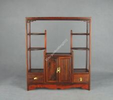 red wood rosewood Chinese curio stand display shelf new china miniature gradevin