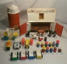☆ MIX LOT PLAY FAMILY FARM 915 FISHER PRICE LITTLE PEOPLE & CARS / ANIMALS ETC.