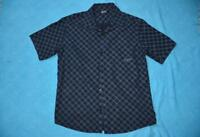BILLABONG SURF WEAR Navy Blue Check Shirt Size Large AS NEW Short Sleeve