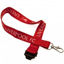 Liverpool Football Club Crest Red & White Nylon Lanyard & Metal Clip