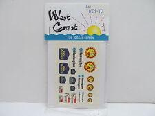 MES-48784West Coast WE1-10 US Decals 1:87,mit Original Verpackung,