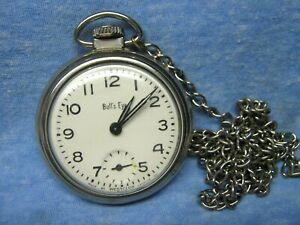 Men's Vintage BULL'S EYE Mechanical Pocket Watch by WESTCLOX - USA