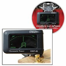 New Crossfire Clip On Digital Chromatic Tuner for Guitar, Bass, Uke & Violin