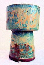 New listing Blue Drip Vase Mid Century Modern Planter Original Pottery California Chipped