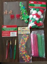 Lot Of Assorted Craft Supplies For Christmas Crafts & Misc Crafts