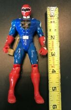 "Blue Power Ranger 6"" Action Figure Power Rangers with Holster Toy"