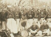 ZOUAVES REGº WW1 ARMY SPECIAL CORP. UNIFORM WAR SCENE RPPC PHOTO POSTCARD PC