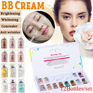 12Pcs/set BB Cream Starter Kit Ampoule Serum Liquid Foundation Treatment Tool