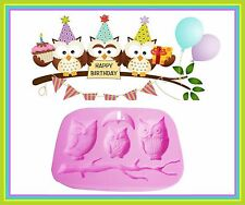 OWL SILICONE MOULD. PERFECT FOR FONDANT SUGAR CRAFT.CHOCOLATE. ECT