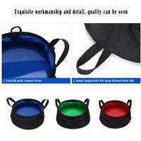 1* Outdoor Survival Folding Washbasin Pot Bag Camping Wash Basin Equipment J3Q7