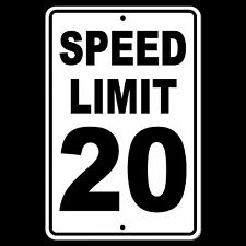 Speed Limit 20 Sign METAL mph slow warning traffic road highway enforced SW012