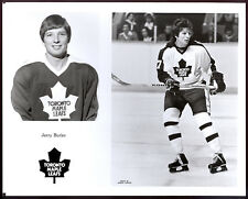 1977-78 NHL Toronto Maple Leafs TEAM issue B&W 8x10 PHOTO PICTURE Jerry Butler