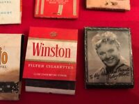 VINTAGE MATCHBOOKS LOT OF 45, HUNTS, WINSTON, DOG RACES, MIAMI DOLPHINS, SWISHER