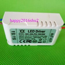 1pcs Constant Current Driver F 6-10pc 3W High Power LED in series,6-10x3w 650mA