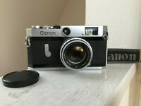 【EXC+5】 Canon P Rangefinder + 50mm F1.8 L39 Leica Screw Mount Lens from JAPAN