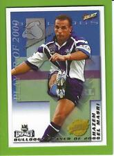 2001SELECT NRL IMPACT SERIES-CLUB PLAYER OF THE YEAR-CP3-HAZEM EL MASRI-BULLDOGS