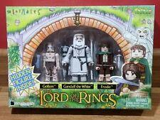 New Line Cinema Art Asylum LOTR MiniMates Gollum-Gandalf the white-Frodo boxed