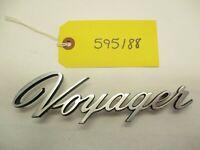 1990's Plymouth Voyage Script Emblem Badge