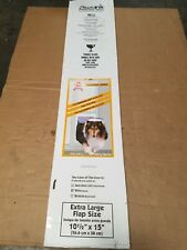 Ideal Pet Products Fast Fit Pet Patio Door Extra Large White (NEW WITH DENTED)